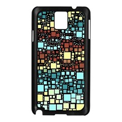 Block On Block, Aqua Samsung Galaxy Note 3 N9005 Case (black) by MoreColorsinLife
