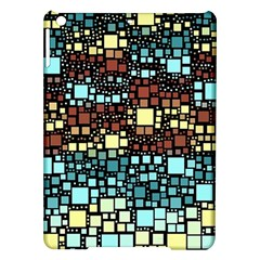 Block On Block, Aqua Ipad Air Hardshell Cases by MoreColorsinLife