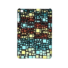 Block On Block, Aqua Ipad Mini 2 Hardshell Cases by MoreColorsinLife