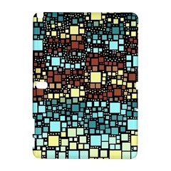 Block On Block, Aqua Samsung Galaxy Note 10 1 (p600) Hardshell Case by MoreColorsinLife