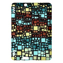 Block On Block, Aqua Kindle Fire Hdx Hardshell Case by MoreColorsinLife