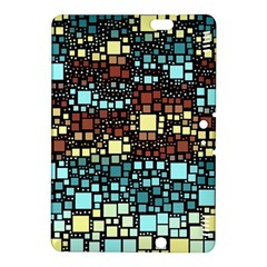 Block On Block, Aqua Kindle Fire Hdx 8 9  Hardshell Case by MoreColorsinLife