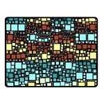 Block On Block, Aqua Double Sided Fleece Blanket (Small)  45 x34 Blanket Back