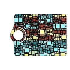 Block On Block, Aqua Kindle Fire Hd (2013) Flip 360 Case by MoreColorsinLife