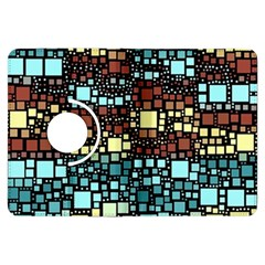 Block On Block, Aqua Kindle Fire Hdx Flip 360 Case by MoreColorsinLife