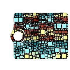 Block On Block, Aqua Kindle Fire Hdx 8 9  Flip 360 Case by MoreColorsinLife
