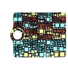 Block On Block, Aqua Kindle Fire HDX 8.9  Flip 360 Case