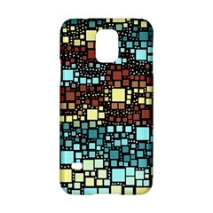 Block On Block, Aqua Samsung Galaxy S5 Hardshell Case  by MoreColorsinLife