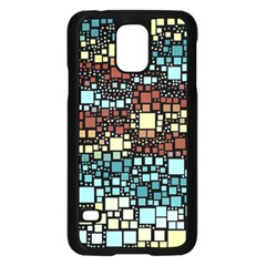 Block On Block, Aqua Samsung Galaxy S5 Case (black)