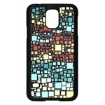 Block On Block, Aqua Samsung Galaxy S5 Case (Black) Front