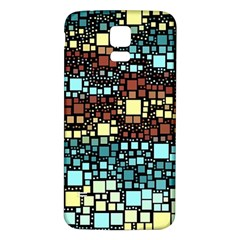 Block On Block, Aqua Samsung Galaxy S5 Back Case (white) by MoreColorsinLife