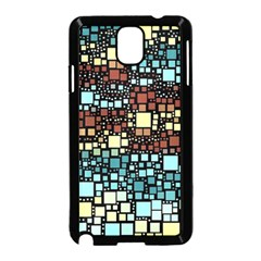 Block On Block, Aqua Samsung Galaxy Note 3 Neo Hardshell Case (black) by MoreColorsinLife