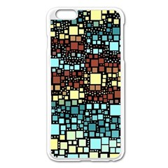 Block On Block, Aqua Apple Iphone 6 Plus/6s Plus Enamel White Case