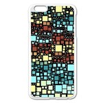 Block On Block, Aqua Apple iPhone 6 Plus/6S Plus Enamel White Case Front