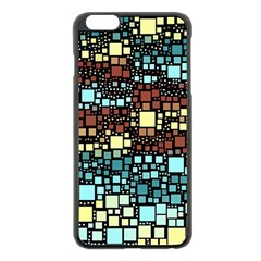 Block On Block, Aqua Apple Iphone 6 Plus/6s Plus Black Enamel Case