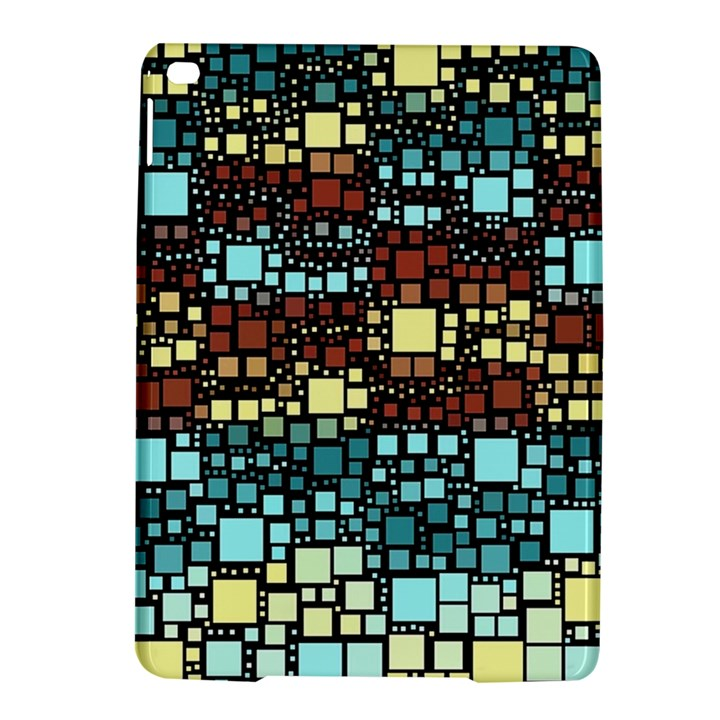 Block On Block, Aqua iPad Air 2 Hardshell Cases