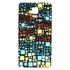 Block On Block, Aqua Galaxy Note 4 Back Case by MoreColorsinLife