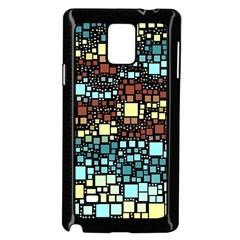 Block On Block, Aqua Samsung Galaxy Note 4 Case (Black)