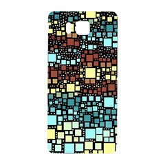 Block On Block, Aqua Samsung Galaxy Alpha Hardshell Back Case by MoreColorsinLife