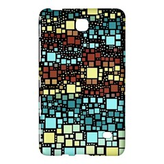 Block On Block, Aqua Samsung Galaxy Tab 4 (7 ) Hardshell Case  by MoreColorsinLife