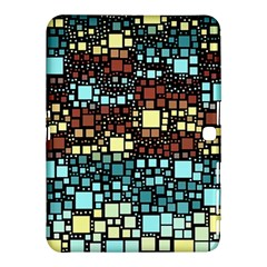 Block On Block, Aqua Samsung Galaxy Tab 4 (10 1 ) Hardshell Case  by MoreColorsinLife