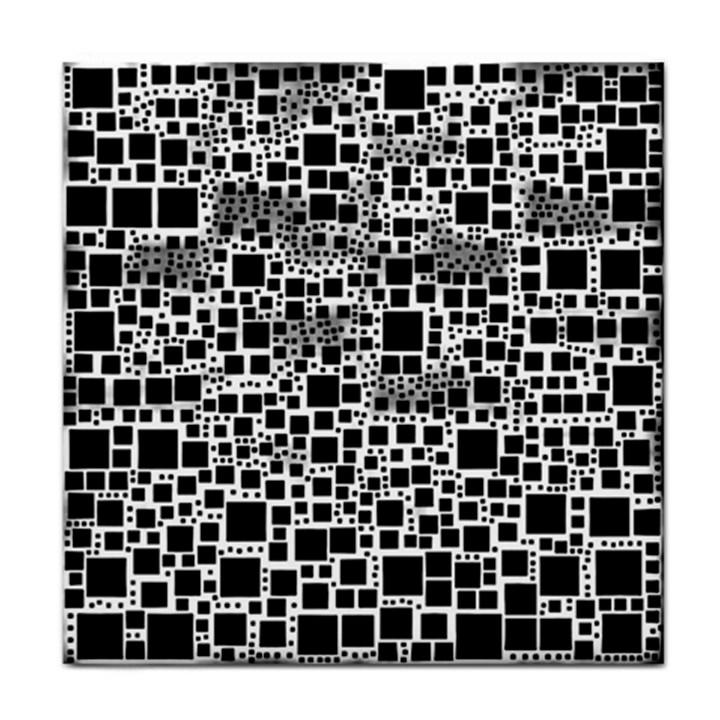 Block On Block, B&w Tile Coasters