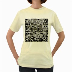Block On Block, B&w Women s Yellow T Shirt