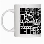 Block On Block, B&w White Mugs Left