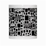 Block On Block, B&w White Mugs Center