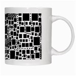 Block On Block, B&w White Mugs Right