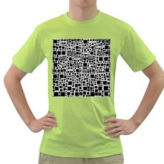 Block On Block, B&w Green T Shirt