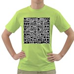 Block On Block, B&w Green T-Shirt Front