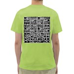 Block On Block, B&w Green T-Shirt Back