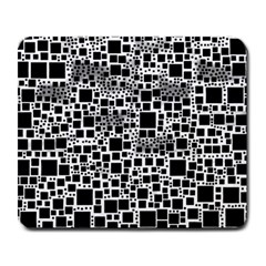 Block On Block, B&w Large Mousepads by MoreColorsinLife