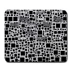 Block On Block, B&w Large Mousepads Front