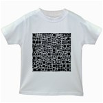 Block On Block, B&w Kids White T-Shirts Front