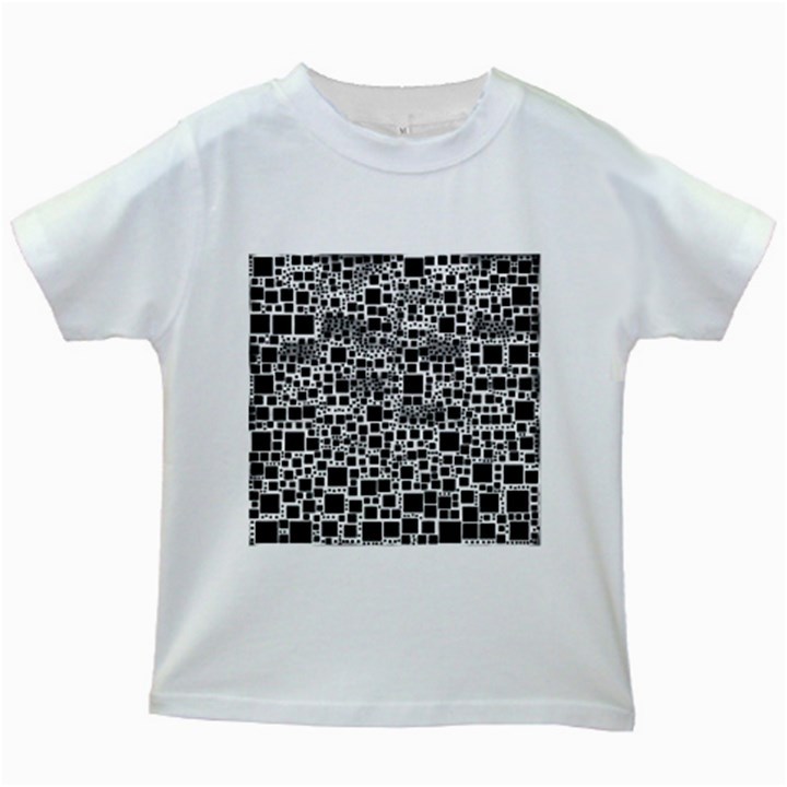 Block On Block, B&w Kids White T-Shirts