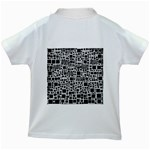 Block On Block, B&w Kids White T-Shirts Back