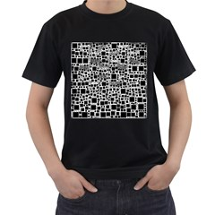 Block On Block, B&w Men s T Shirt (black) (two Sided)