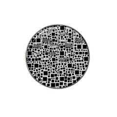 Block On Block, B&w Hat Clip Ball Marker (10 Pack)