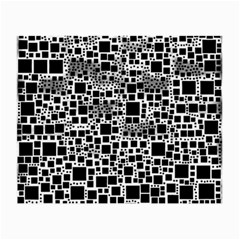 Block On Block, B&w Small Glasses Cloth by MoreColorsinLife