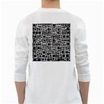 Block On Block, B&w White Long Sleeve T-Shirts Back