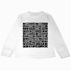 Block On Block, B&w Kids Long Sleeve T Shirts by MoreColorsinLife