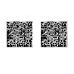Block On Block, B&w Cufflinks (square) by MoreColorsinLife
