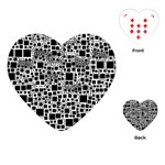 Block On Block, B&w Playing Cards (Heart)  Front
