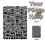 Block On Block, B&w Playing Cards 54 Designs  Front - Spade2