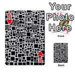 Block On Block, B&w Playing Cards 54 Designs  Front - Heart6