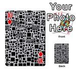 Block On Block, B&w Playing Cards 54 Designs  Front - Diamond10