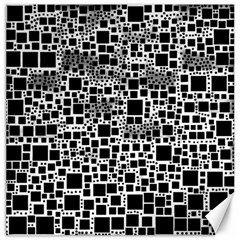 Block On Block, B&w Canvas 16  X 16   by MoreColorsinLife