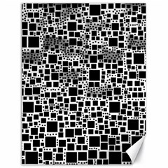 Block On Block, B&w Canvas 18  X 24   by MoreColorsinLife